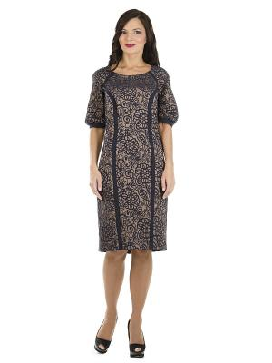 Платье PROFITO AVANTAGE. Цвет: коричневый, темно-синий