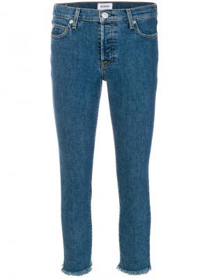 Укороченные джинсы скинни Hudson. Цвет: синий