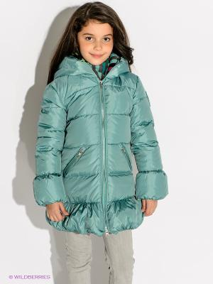 Пальто Bomboogie Kids. Цвет: бирюзовый