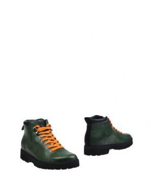 Полусапоги и высокие ботинки PÀNCHIC. Цвет: зеленый-милитари