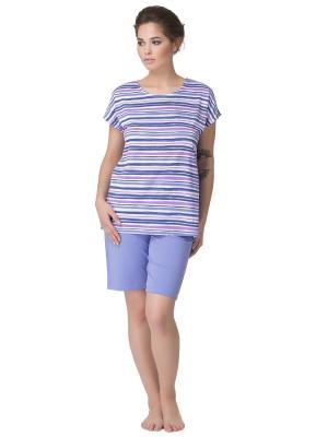 Пижама PRIMAVERINA. Цвет: синий, розовый, сиреневый
