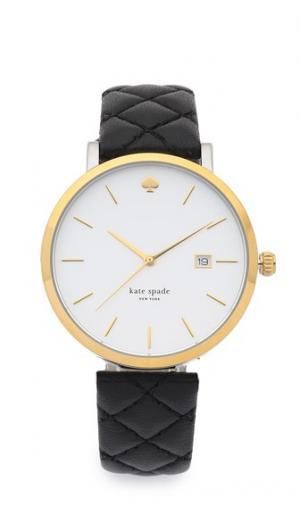 Часы со стеганым ремешком Metro Grand Kate Spade New York