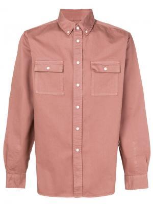 Рубашка на пуговицах Saturdays Nyc. Цвет: розовый и фиолетовый