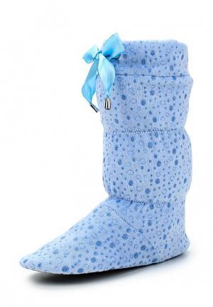 Тапочки Cleo. Цвет: голубой
