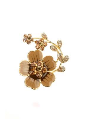Брошь Bijoux Land. Цвет: золотистый, коричневый, бежевый