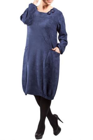 Платье Zedd Plus. Цвет: dark blue