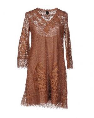 Короткое платье NOLITA. Цвет: коричневый