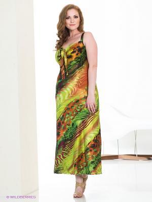 Платье МадаМ Т. Цвет: салатовый, зеленый, терракотовый