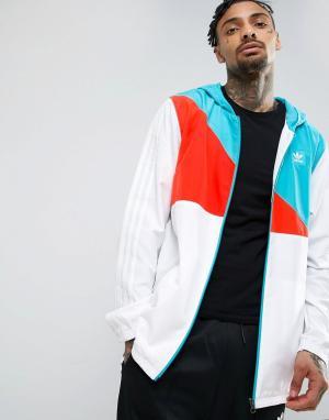 Adidas Skateboarding Куртка-ветровка BK0899. Цвет: белый