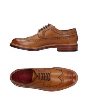 Обувь на шнурках GRENSON. Цвет: верблюжий