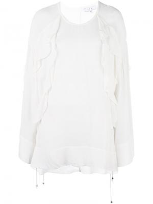 Блузка с оборками Iro. Цвет: белый