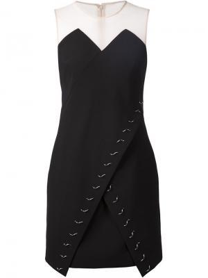 Декорированное платье с запахом Marios Schwab. Цвет: чёрный