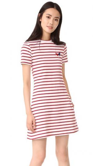 Мини платье Etre Cecile. Цвет: полоску breton-красный
