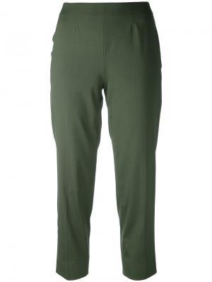 Укороченные брюки Piazza Sempione. Цвет: зелёный