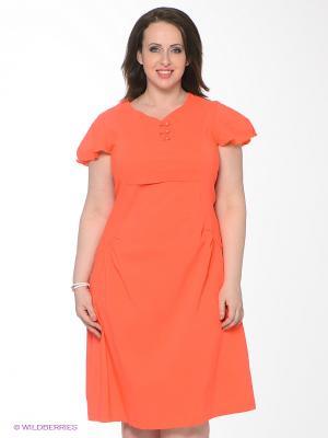 Платье Klimini. Цвет: коралловый
