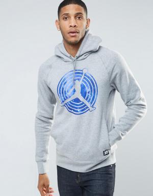 Jordan Худи серого цвета Nike AJ11 823714-063. Цвет: серый