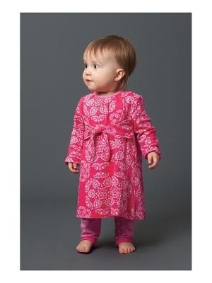 Платье в комплекте с леггинсами Angel Dear. Цвет: розовый