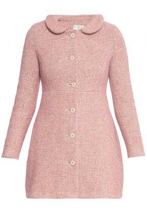 Пальто из шерсти 173143 Villa Turgenev. Цвет: розовый