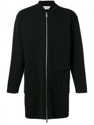 Пальто на молнии Rashad Cola Études. Цвет: чёрный