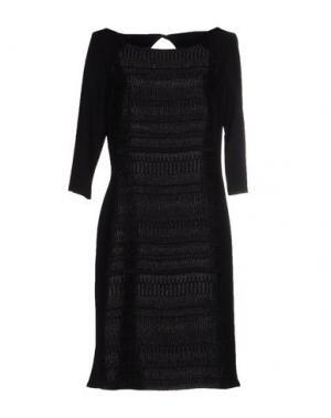 Платье до колена VERA MONT. Цвет: черный