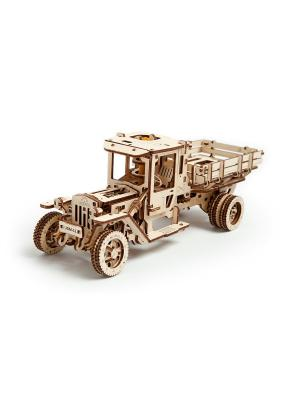 Конструктор 3D-пазл Ugears - Грузовик UGM-11. Цвет: светло-желтый