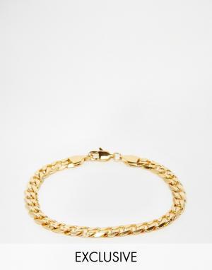 Reclaimed Vintage Браслет-цепочка с крупными звеньями Inspired. Цвет: золотой