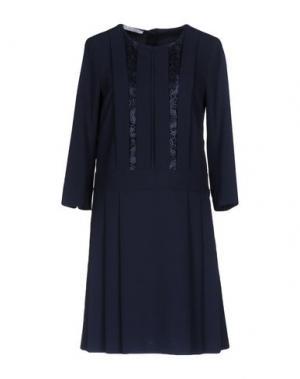 Короткое платье SFIZIO. Цвет: темно-синий
