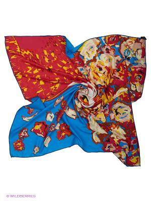 Платок Модные истории. Цвет: синий, желтый, красный