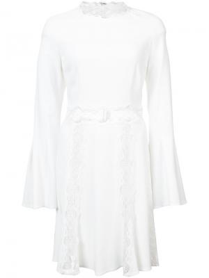 Расклешенное платье мини Jonathan Simkhai. Цвет: белый