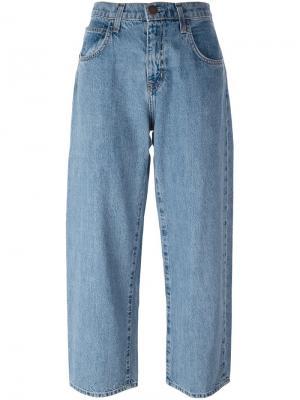 Классические широкие джинсы Current/Elliott. Цвет: синий