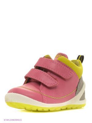 Ботинки ECCO. Цвет: розовый, желтый