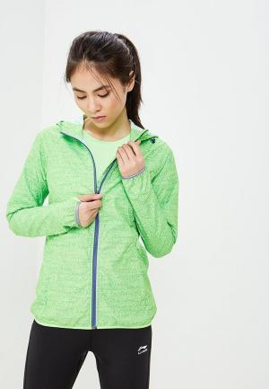 Ветровка Li-Ning. Цвет: зеленый