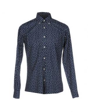 Pубашка FORECAST. Цвет: темно-синий