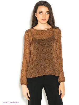 Блузка Motivi. Цвет: коричневый