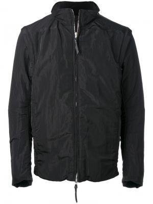Стеганая куртка на молнии 11 By Boris Bidjan Saberi. Цвет: чёрный