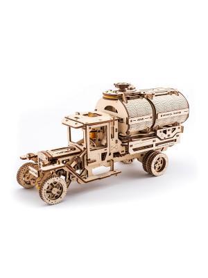 Конструктор 3D-пазл Ugears - Автоцистерна. Цвет: светло-желтый