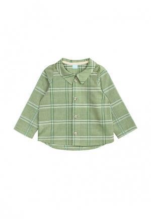 Рубашка AnyKids. Цвет: зеленый