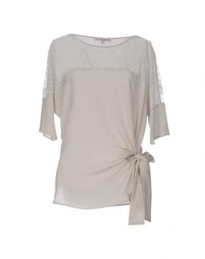Блузка FALCON & BLOOM. Цвет: светло-серый