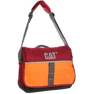 Сумка через плечо  Zinc Maroon/Orange Caterpillar. Цвет: бордовый,оранжевый,серый