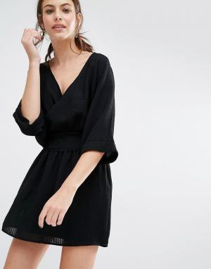 BA&SH Платье мини Zima. Цвет: черный