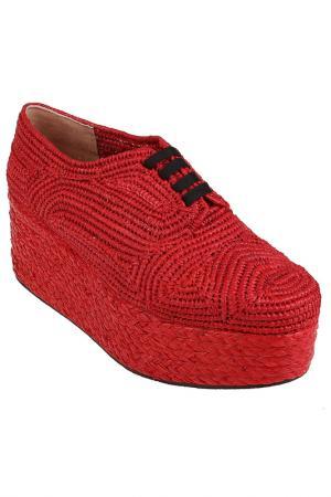 Текстильные полуботинки Robert Clergerie. Цвет: красный