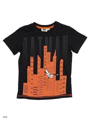 Футболка Modis. Цвет: черный, оранжевый