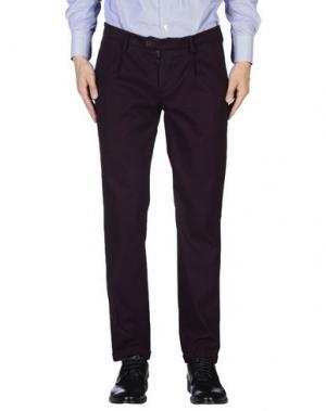 Повседневные брюки ROBERTO PEPE. Цвет: красно-коричневый