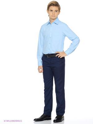 Рубашка Милашка Сьюзи. Цвет: голубой