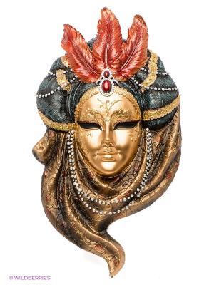 Венецианская маска Жемчуг Veronese. Цвет: золотистый, черный, красный