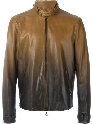 Куртка с тонально-градиентным эффектом John Varvatos. Цвет: коричневый