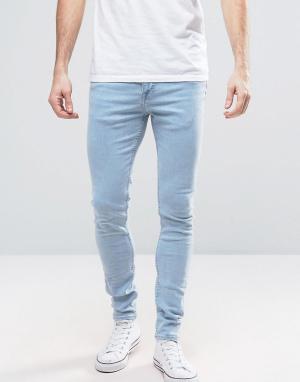 New Look Голубые облегающие джинсы. Цвет: синий