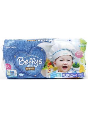 Подгузники-трусики Beffys motion fit для детей размер XL (13-18 кг.) 36 шт. Beffy's. Цвет: синий