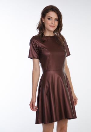 Платье Irma Dressy. Цвет: коричневый