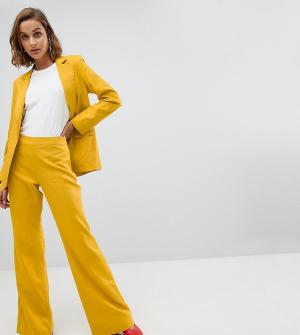UNIQUE21 Расклешенные льняные брюки от комплекта Unique 21. Цвет: желтый